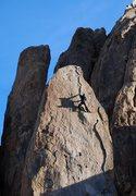 Rock Climbing Photo: Climbing in the afternoon sun