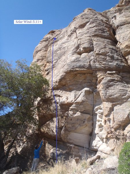 Rock Climbing Photo: Solar Wind (March 2014)