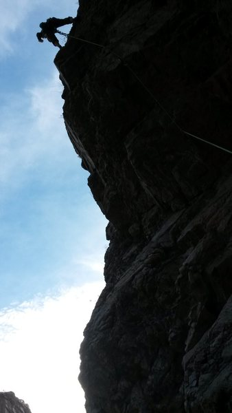 Rock Climbing Photo: My partner in climb Todd Chapman at the chains aft...