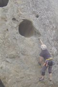 Rock Climbing Photo: First dyno on Amazing face. Taller people can jump...