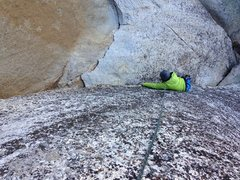 Rock Climbing Photo: Tori on the slab on the left side of the TR wall