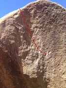 Rock Climbing Photo: The Sun Dial follows the red line to the top
