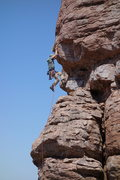 Rock Climbing Photo: The first cruxy bit -- AMH on the FA.