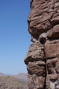 Rock Climbing Photo: AMH on the FA It's sustained...see pic below for r...