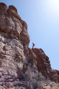 Rock Climbing Photo: DAS rapping from the belay ledge -- over Walk the ...