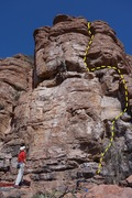 Rock Climbing Photo: AMH on Prey for Penguins, but Hufflepuff route is ...