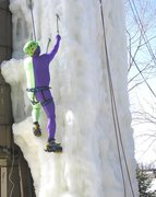 Rock Climbing Photo: OK, maybe it's a mighty morphin' power ranger this...