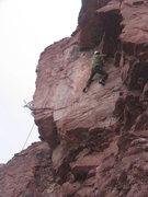 Rock Climbing Photo: Zach's feet are on something?