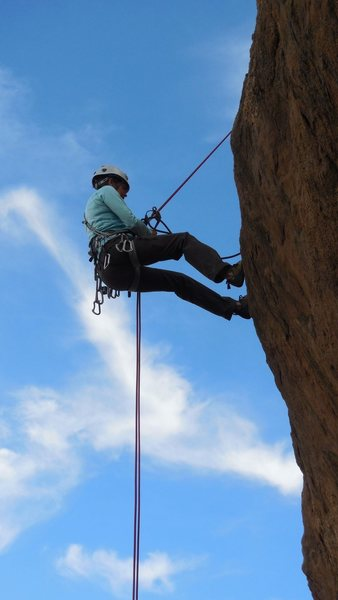 "Rappelling off ""Hob Knob 'in"""