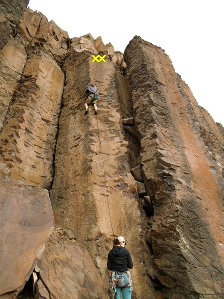 Rock Climbing Photo: The line.  Follow 5 clips to chains