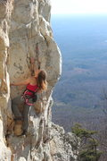 Rock Climbing Photo: Joy Cox on Deceivoius