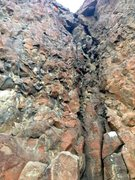 Rock Climbing Photo: Follow the path of least resistance.  4 bolts to c...