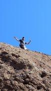 """Rock Climbing Photo: Spider Savage on """"Spider's Line."""""""