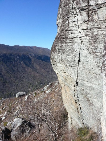 Fantastic crack and jug climbing!
