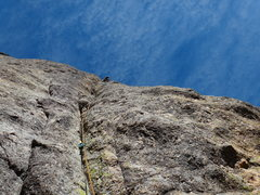 Rock Climbing Photo: Arron actulay fa'ed p2 using only his hair and fee...