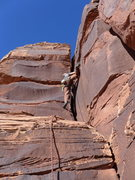 Rock Climbing Photo: Erick sport climbing the offwidth pitch
