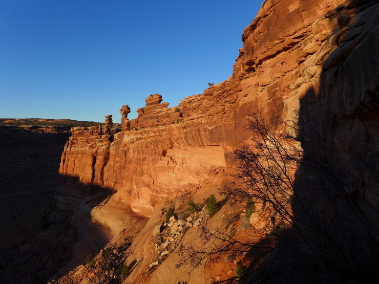 evening light on the Kachina Towers