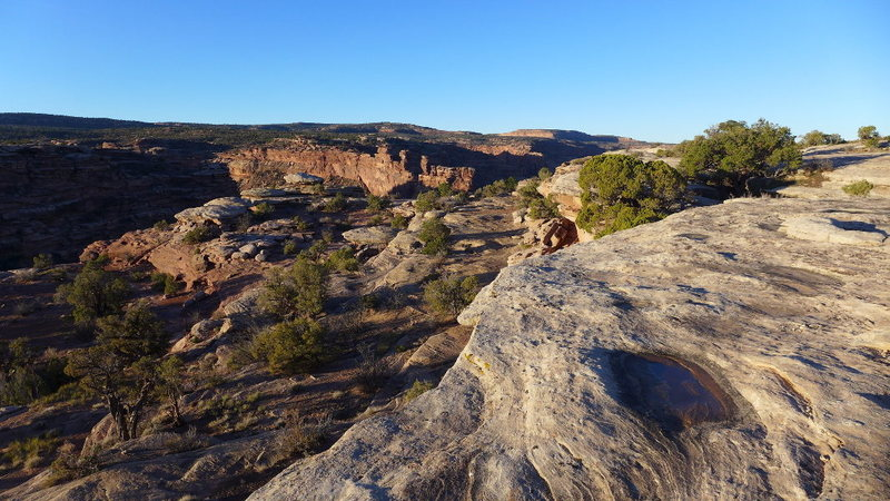 Rock Climbing Photo: Hell Roaring Canyon from the vicinity of the parki...
