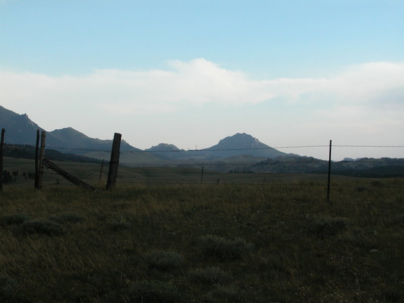 Eagle Peak as seen from 10 mi NE on Esterbrook Rd.
