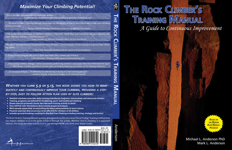 Cover spread.  Find more info at http://rockclimberstrainingmanual.com<br>