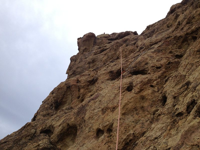 Rock Climbing Photo: P2 on bolts to climbers left of the dirty/sandy co...