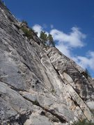 Rock Climbing Photo: Looking up at the Dihedral