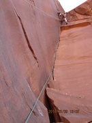 Rock Climbing Photo: anchors away... the top of pitch 3 on the on sight...