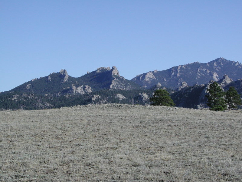 A view of South Mountain [just left of center] form the Arapaho Trail.