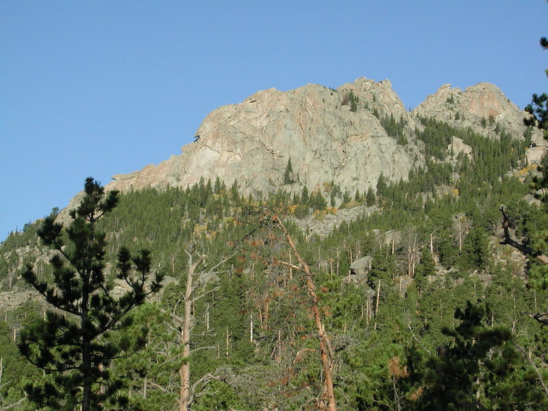 the east face of the largest fin on east slope of South Mountain.