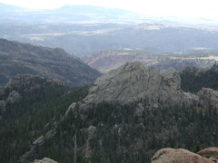 Rock Climbing Photo: Some mounds visible from the south end of South Mo...