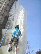 Rock Climbing Photo: juggler goes up in shorts
