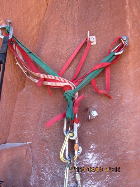 Rock Climbing Photo: old mess.. with the new bolts looking good