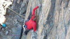 Rock Climbing Photo: Srin at the start of Capitalist Pig