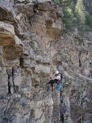 Rock Climbing Photo: pulling 300lb block off