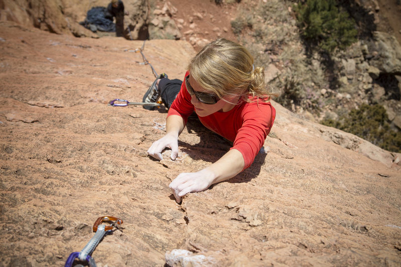 Rock Climbing Photo: Robyn flashing Third Stage at the Cactus Cliff.