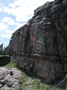 "Rock Climbing Photo: Several of the ""rib"" cracks were top rop..."