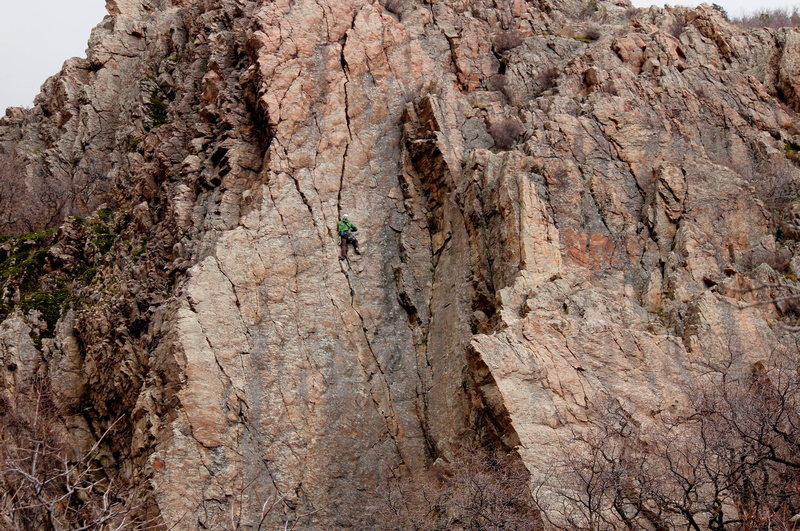 Rock Climbing Photo: What a beautiful line, and an equally thrilling le...