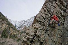 Rock Climbing Photo: photo: Mooner - me following