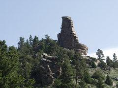 Rock Climbing Photo: Pancake Pinnacle as seen from La Bonte Creek Canyo...