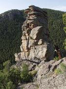 Rock Climbing Photo: the uphill side of Pancake Pinnacle.