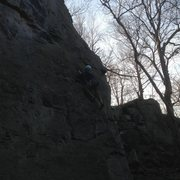 Leading Grab Your Balls (5.9) at Breakneck Rocks (3/11/13)