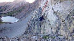 Rock Climbing Photo: The ledge to the start of the climb.