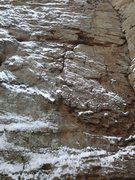 Rock Climbing Photo: Although covered in snow, the route looked pretty ...