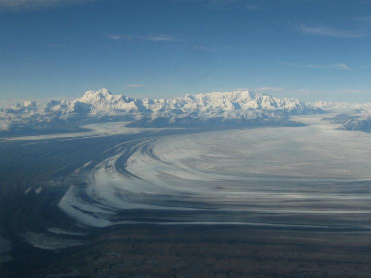 Rock Climbing Photo: St. Elias & Mt. Logan with the Malaspina Glacier i...