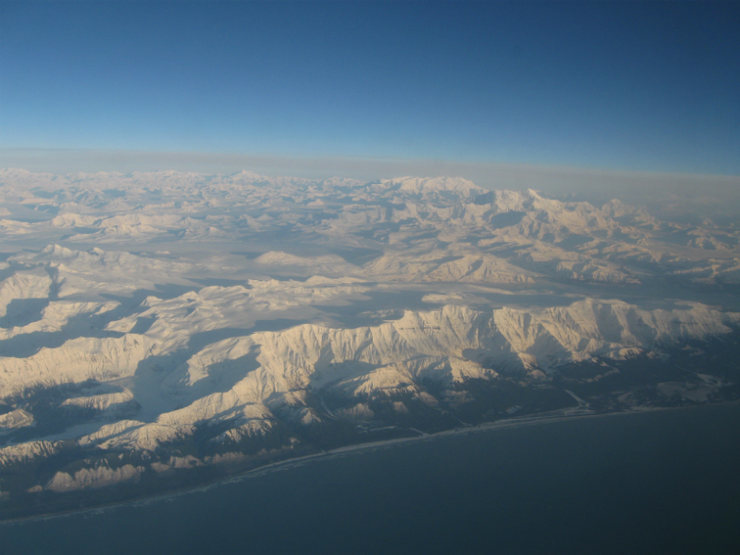 Rock Climbing Photo: Mt. Logan & St. Elias from the Gulf of Alaska