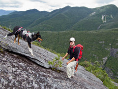 Rock Climbing Photo: Colvin on the old Colden Slab. This ascent, though...