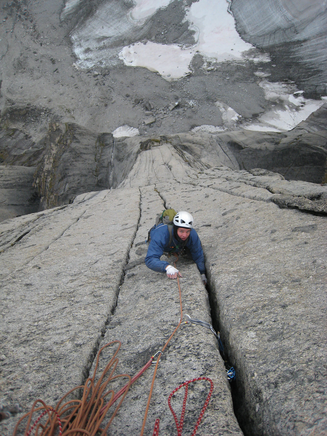 Rock climbing in the cirque of the unclimbables northwest territories david barnett feels some earned exposure with the final hand cracks above the lotus headwall izmirmasajfo