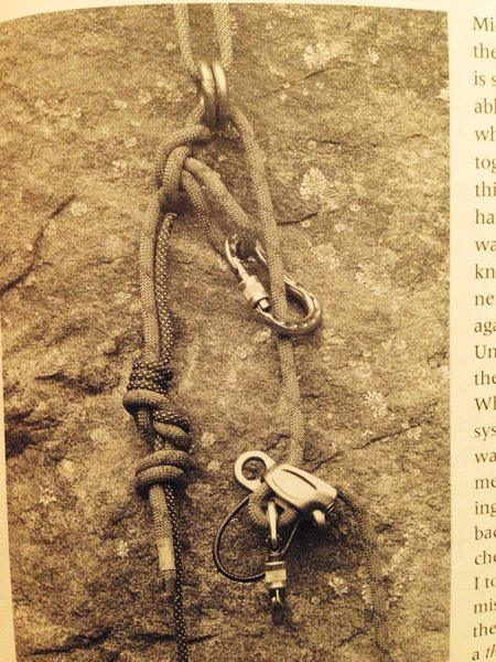 Rock Climbing Photo: Found this in a book on self rescue