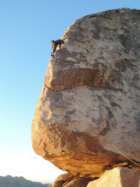 Rock Climbing Photo: Galen V. during a sunset lead of the SW Corner.  P...