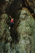 "Rock Climbing Photo: ""Si Pero No,"" with the crack of ""Gu..."
